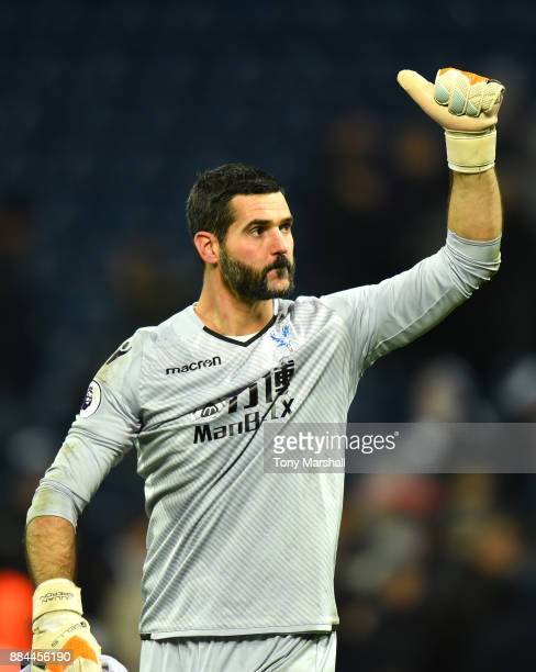 Julian Speroni of Crystal Palace shows appreciation to the fans after the Premier League match between West Bromwich Albion and Crystal Palace at The...