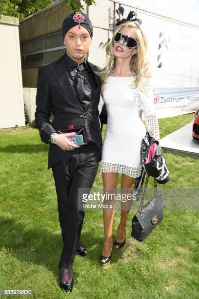 Julian Stoeckel and Gisela Muth during the Audi Ascot Race Day 2017 on August 20 2017 in Hanover Germany