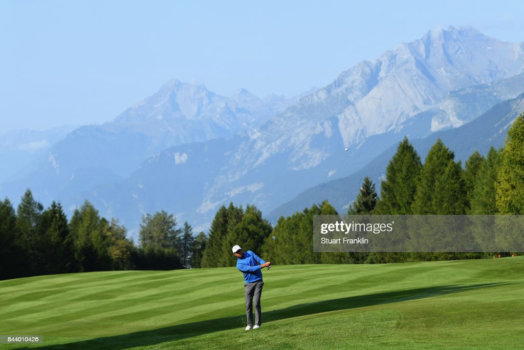 Julian Suri of The United States on the 15th during Day Two of the 2017 Omega European Masters at Crans-sur-Sierre Golf Club on September 8, 2017 in Crans-Montana, Switzerland.