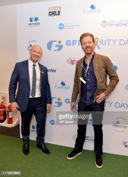 Julian Swain and Damian Lewis representing Cure EB attend the GFI Charity Day to commemorate the 658 employees who perished on September 11 2001 in...