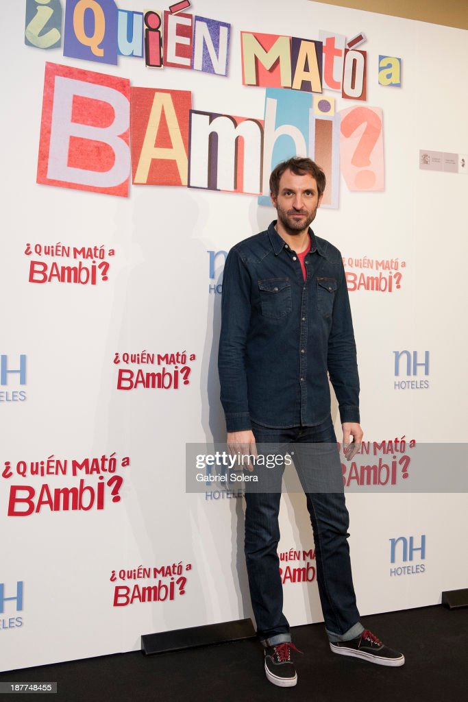 Julian Villagran attends the '¿Quien Mato a Bambi?' photocall at Hesperia Emperatriz Hotel on November 12, 2013 in Madrid, Spain.