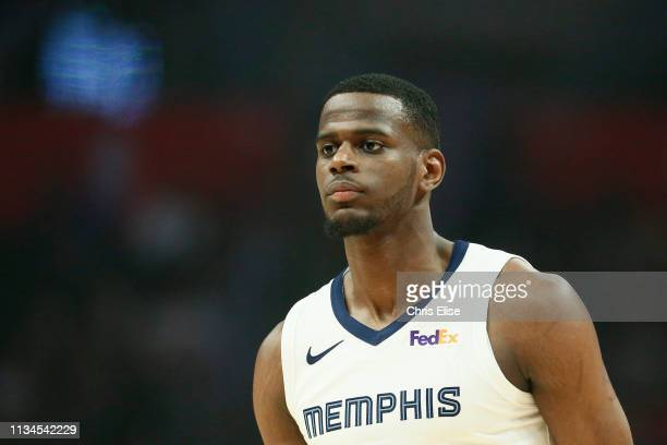 Julian Washburn of the Memphis Grizzlies looks on during the game against the LA Clippers on March 31 2019 at STAPLES Center in Los Angeles...