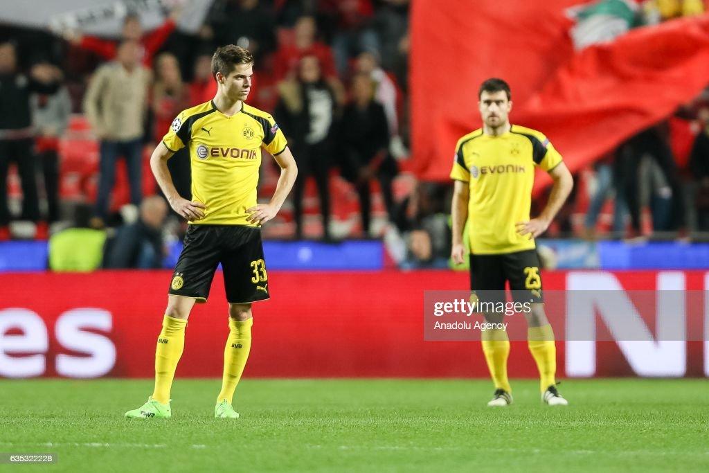 SL Benfica Lisbon and BV Borussia Dortmund - UEFA Champions League : News Photo