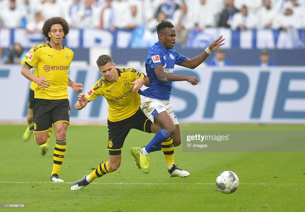 Julian Weigl Of Borussia Dortmund And Rabbi Matondo Of Fc Schalke 04 News Photo Getty Images