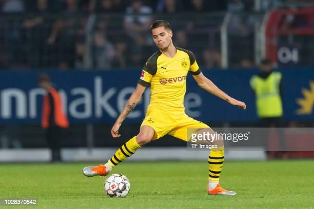Julian Weigl of Borussia Dortmund controls the ball during the Frendly Match between VfL Osnabrück and Borussia Dortmund at Stadion an der Bremer...