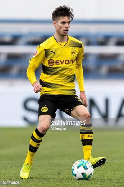 Julian Weigl of Borussia Dortmund during the friendly match between Borussia Dortmund and Zulte Waregem at the Estadio Municipal Marbella on January...