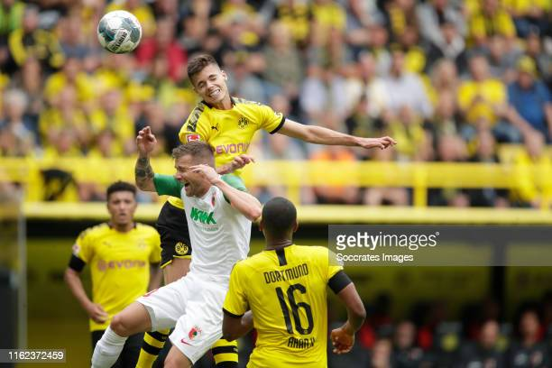 Julian Weigl of Borussia Dortmund during the German Bundesliga match between Borussia Dortmund v FC Augsburg at the Signal Iduna Park on August 17,...