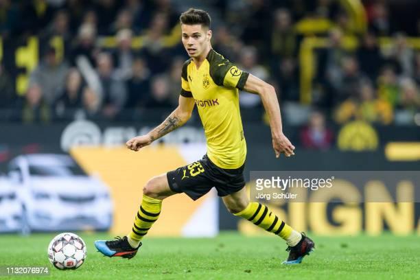 Julian Weigl of Borussia Dortmund in action during the Bundesliga match between Borussia Dortmund and Bayer 04 Leverkusen at the Signal Iduna Park on...