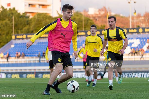 Julian Weigl of Borussia Dortmund in action during the second day of the training camp at Estadio Municipal de Marbella on January 06 2017 in...