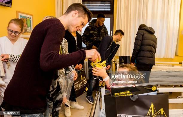Julian Weigl of Borussia Dortmund is seen during the annual visit of Borussia Dortmund at the children's hospital on December 13 2017 in Dortmund...