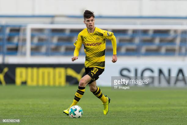 Julian Weigl of Dortmund controls the ball during the Friendly match between Borussia Dortmund and SV Zulte Waregem at Estadio Municipal de Marbella...