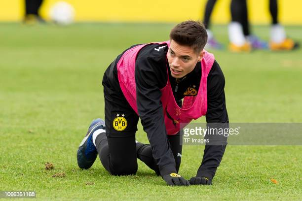 Julian Weigl of Dortmund looks on during a training session at BVB training center on November 29 2018 in Dortmund Germany