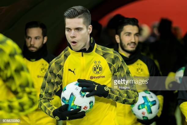 Julian Weigl of Dortmund looks on prior to the Bundesliga match between RB Leipzig and Borussia Dortmund at Red Bull Arena on March 3 2018 in Leipzig...