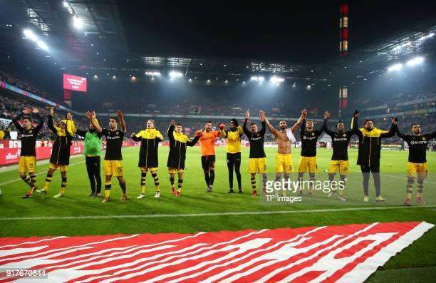 Julian Weigl of Dortmund Mahmoud Dahoud of Dortmund Nuri Sahin of Dortmund Sokratis Papastathopoulos of Dortmund Andre Schuerrle of Dortmund...