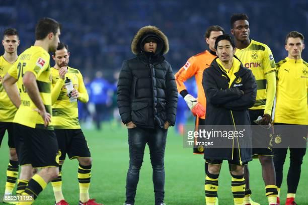 Julian Weigl of Dortmund Sokratis Papastathopoulos of Dortmund Marc Bartra of Dortmund Jeremy Toljan of Dortmund Roman Weidenfeller of Dortmund...