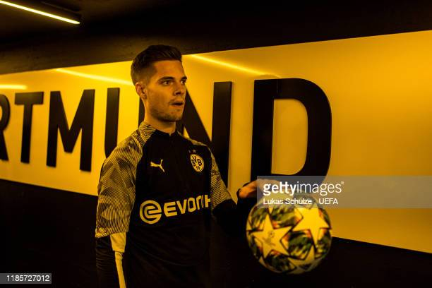 Julian Weigl of Dortmund waits in the player tunnel prior to the UEFA Champions League group F match between Borussia Dortmund and Inter at Signal...