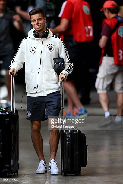 Julian Weigl of Germany arrives prior to the International Friendly match between Germany and Hungary at VeltinsArena on June 4 2016 in Gelsenkirchen...