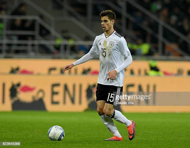 Julian Weigl of Germany in action during the International Friendly Match between Italy and Germany at Giuseppe Meazza Stadium on November 15 2016 in...