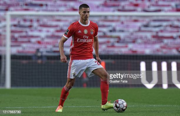 Julian Weigl of SL Benfica in action during the Liga NOS match between SL Benfica and CD Tondela at Estadio da Luz on June 4 2020 in Lisbon Portugal