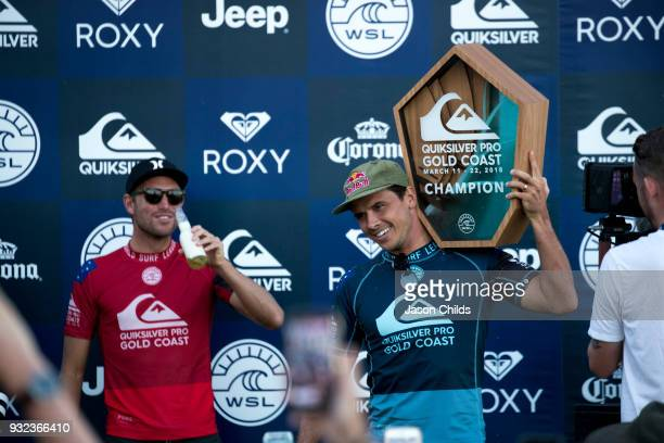 Julian Wilson claimed victory today in extraordinary conditions at Kirra on the Gold Coast defeating his friend Adrian Buchan in the Quiksilver Pro...