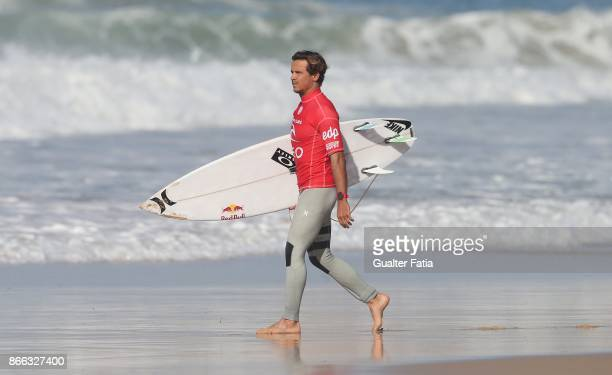 Julian Wilson from Australia before the start of the Final of the Meo Rip Curl Pro Portugal 2017 at Supertubos beach on October 25 2017 in Peniche...