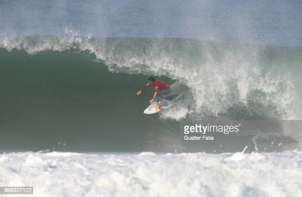 Julian Wilson from Australia in action during Semifinals heat 1 of the Meo Rip Curl Pro Portugal 2017 at Supertubos beach on October 25 2017 in...