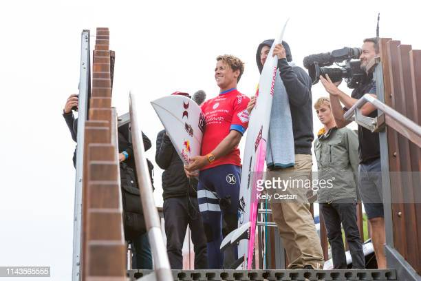 Julian Wilson of Australia competing in the 2016 Drug Aware Margaret River Pro where he finished runnerup after placing second to Sebastian Zietz of...