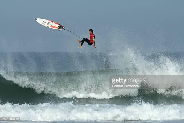 Julian Wilson of Australia surfs into round 3 of Quiksilver Pro on October 10 2015 in Hossegor France