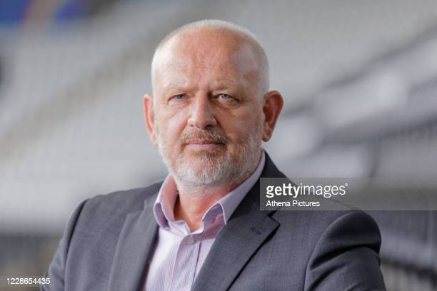 Julian Winter new CEO for Swansea City poses for a portrait after a press conference at the Liberty Stadium on September 22 2020 in Swansea Wales