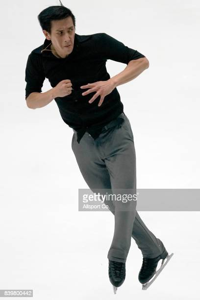 Julian Yee ZhiJie of Malaysia competes during the Men Individual Figure Skating Final at the Empire City Skating Rinlk as part of the 2017 SEA Games...