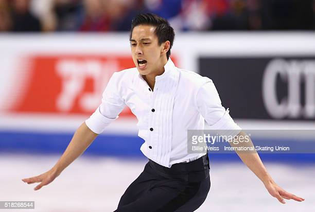 Julian Zhi Jie Yee of Malaysia competes during Day 3 of the ISU World Figure Skating Championships 2016 at TD Garden on March 30 2016 in Boston...