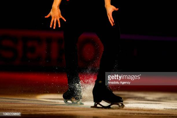 Julian Zhi Jie Yee of Malaysia performs during the Gala Exhibition of the ISU GP Rostelecom Cup 2018 at the Megasport Arena in Moscow Russia on...