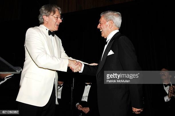 Julian Zugazagoitia and Dr Mario Vargas Llosa attend EL MUSEO's 15th Annual Gala at Cipriani 42nd Street on May 22 2008 in New York City