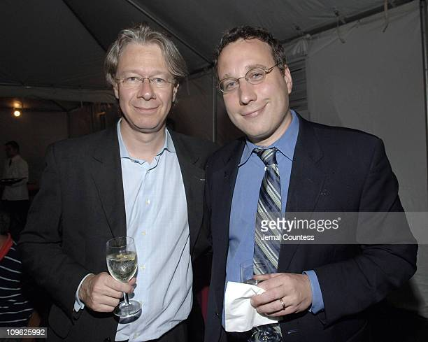 Julian Zugazagoitia and Matthew Bregman during New York Philharmonic's Concerts in the Parks Reception at The Great Lawn in Central Park in New York...