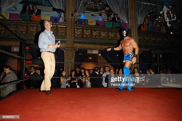 Julian Zugazagoitia and Wrestler attend Young International Circle Benefit and Party for EL MUSEO DEL BARRIO at The Angel Orensanz Foundation on...