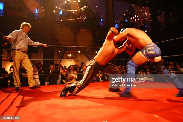 Julian Zugazagoitia and Wrestlers attend Young International Circle Benefit and Party for EL MUSEO DEL BARRIO at The Angel Orensanz Foundation on...