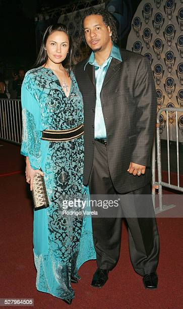 Juliana and Manny Ramirez during Premios Fox Sports 2004 Awards Red Carpet at Jackie Gleason Theater in Miami Beach Florida United States