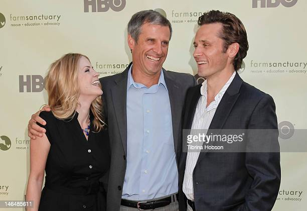 Juliana Dever Gene Baur and Seamus Dever attend 'Bringing Farm Sanctuary To All' a celebration of expanding compassion on June 16 2012 in Los Angeles...