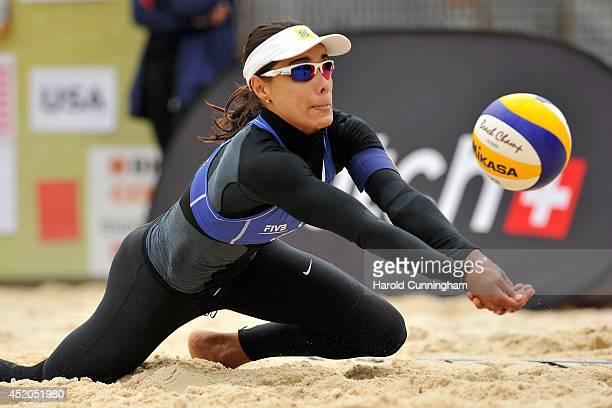Juliana Felisberta Da Silva of Brazil in action during the women main draw match JulianaAntonelli v DaySummer as part of the fourth day of the FIVB...