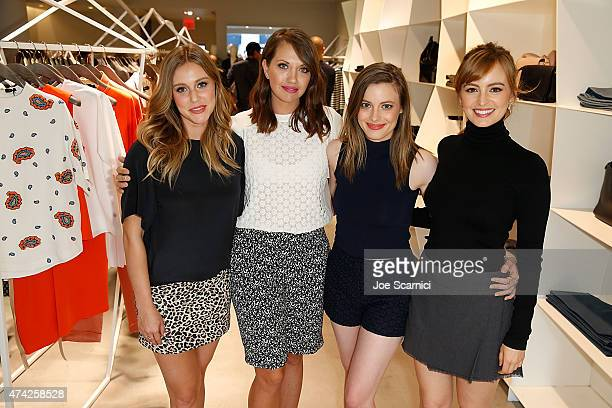 Juliana Gukll Caley Rinker Gillian Jacobs and Ahna O'Reilly attend Joseph And Stylist Caley Rinker Host A Celebration To Benefit BecauseYouCan at...
