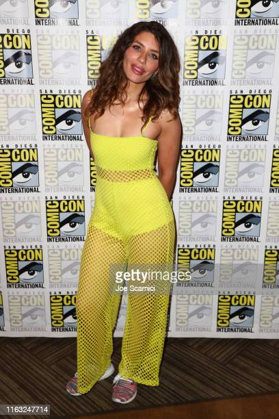 Juliana Harkavy attends Arrow press line during 2019 ComicCon International on July 20 2019 in San Diego California