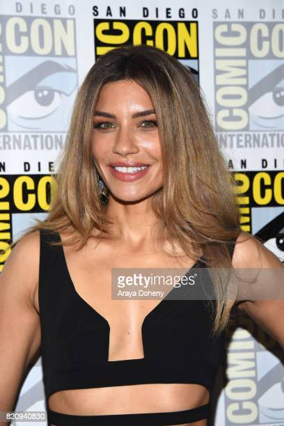Juliana Harkavy attends the 'Arrow' press conference on July 22 2017 in San Diego California
