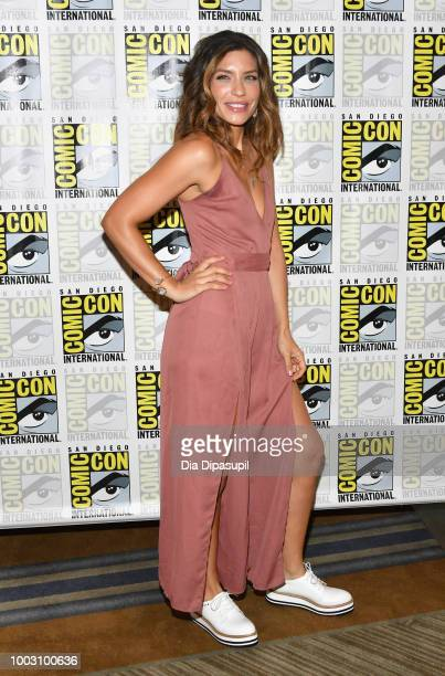 Juliana Harkavy attends the 'Arrow' Press Line during ComicCon International 2018 at Hilton Bayfront on July 21 2018 in San Diego California