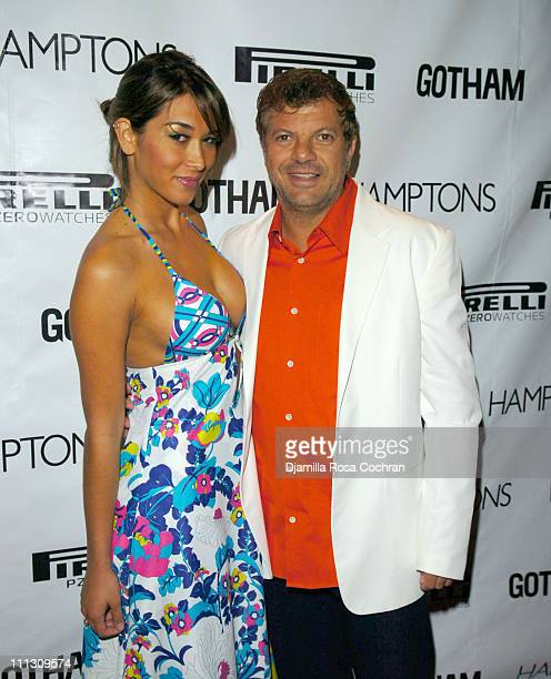 Juliana Magario and Rocco Ancarola during Pirelli Watches and Hamptons Magazine Host the Golf Classic Party at Cain in Southampton, NY, United States.