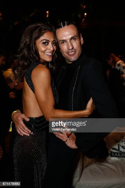 Juliana Paes and Dudu Bertolini attends 2016 amfAR Inspiration Gala on April 27 2017 in Sao Paulo Brazil