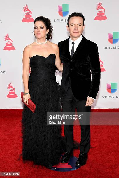 Juliana Posada and recording artist Fonseca attend The 17th Annual Latin Grammy Awards at TMobile Arena on November 17 2016 in Las Vegas Nevada