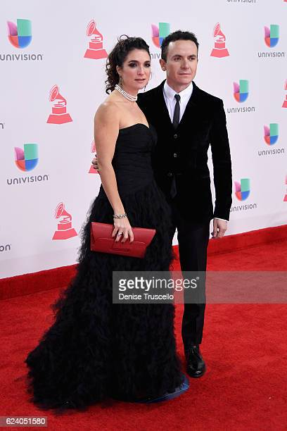 Juliana Posada and singer Fonseca attend The 17th Annual Latin Grammy Awards at TMobile Arena on November 17 2016 in Las Vegas Nevada