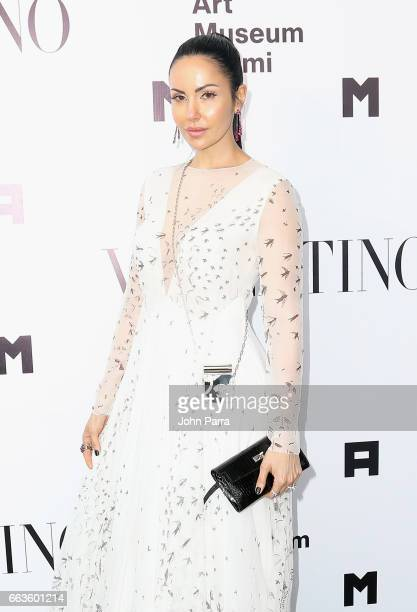 Juliana Ramirez at PAMM Art Of The Party Presented By Valentino at Perez Art Museum Miami on April 1 2017 in Miami Florida