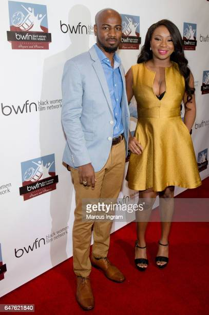 Juliana Richards and Mansour Abdullah attend the 2017 Black Women Film Summit Untold Stories awards luncheon at Atlanta Marriott Marquis on March 3...