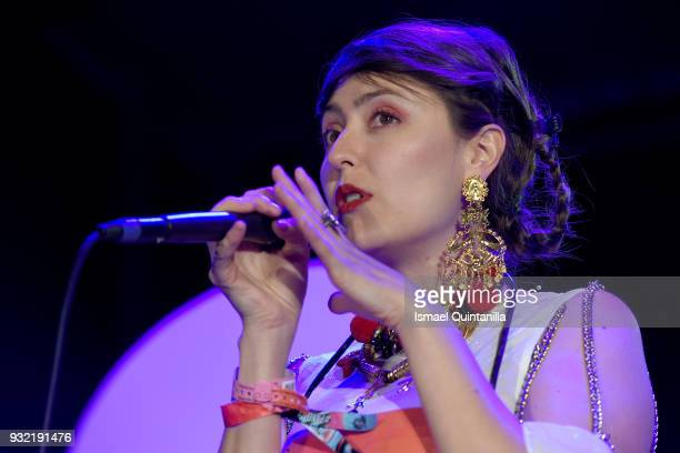 Juliana Ronderos of Salt Cathedral performs onstage at Pandora during SXSW at The Gatsby on March 14 2018 in Austin Texas
